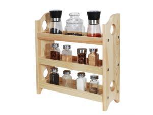 NEX 3 Tier Wood Spice Rack Organizer Countertop - Rustic Style (NX-HK134-32A)
