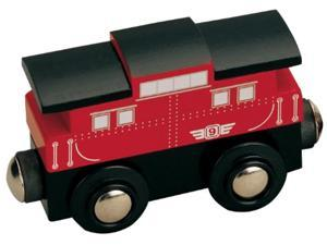 maxim enterprise wooden train caboose # 9 - compatible with other major name brand wooden train sets and wooden train tracks