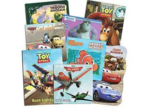 disney pixar board books super set for toddlers kids- set of 8 books featuring disney cars, planes, toy story, good dinoaur (su