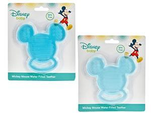 disney 2-pack baby mickey mouse water filled teether, blue