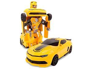 superpower remote control car transforming bumblebee classic disguise action figure hero robot toy with one button transformati