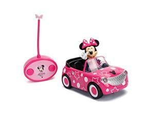 """disney junior 7.5"""" minnie mouse roadster rc remote control car pink 27mhz, toys for kids"""