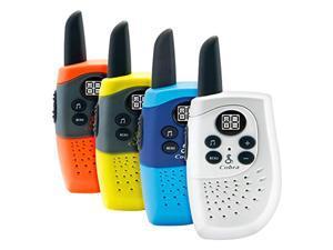 cobra sh130-4 22 channel kid's walkie talkies - up to 8 mile range (4-pack)