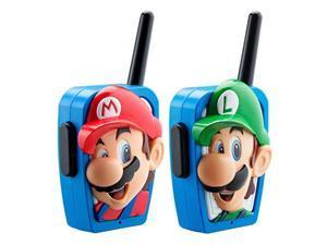 ekids super mario bros walkie talkies kids toys, long range, two way static free handheld radios, great for indoor or outdoor t