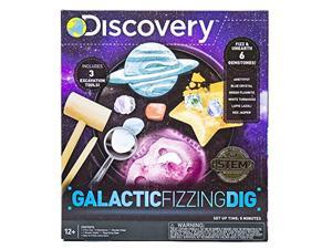 discovery galactic fizzing dig stem science kit by horizon group usa, excavate, fizz, pop & reveal 6 real gemstones fr