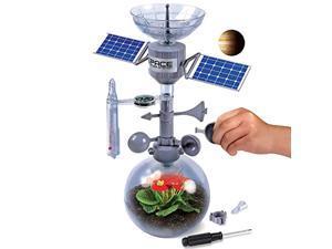 discovery mindblown weather terrarium diy build & grow kit, stem