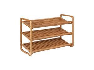honey-can-do sho-01599 bamboo 3-tier shoe shelf