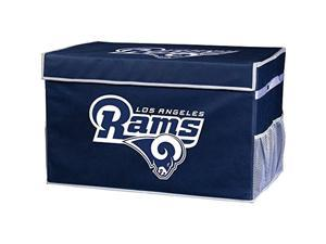 franklin sports nfl los angeles rams folding storage footlocker bins - official nfl team storage organizers - collapsible conta