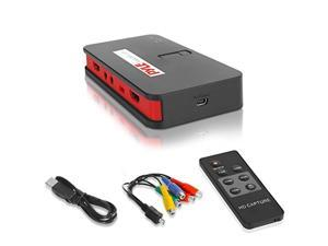 pyle video game capture card - av recorder converter, hdmi support, full hd 1080p digital media file creation system with audio
