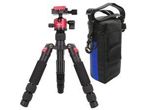 koolehaoda travel portable h-55 mini tripod compact desktop macro mini tripod with ball head for dslr camera canon nikon (h-55)
