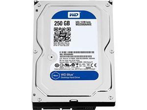 western digital wd2500aakx caviar blue 250gb 7200 rpm 16mb cache sata 6.0gb/s 3.5 internal hard drive (renewed)