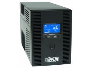 tripp lite smart1500lcdt 1500va 900w ups battery back up, avr, lcd display, line-interactive, 10 outlets, 120v, usb, tel & coax
