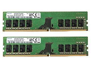 samsung 16gb (2x8gb) ddr4 2666mhz dimm pc4-21300 udimm non-ecc 1rx8 1.2v cl19 288-pin desktop computer ram memory upgrade kit m