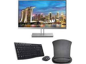 hp elitedisplay e233 23 inch 1920 x 1080 (1fh46a8#aba) full hd ips led backlit monitor bundle with hdmi, vga, displayport, gel