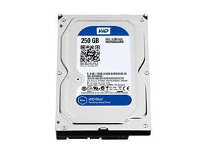 wd blue 250gb everyday pc desktop hard drive: 3.5 inch, sata 6 gb/s, 7200 rpm, 16mb cache (wd2500aakx) (old model) (renewed)