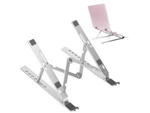 portable laptop stand with adjustable height 7 angles, foldable computer laptop mount holder riser for mac book, notebook,table