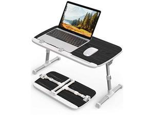abovetek laptop desk for bed, laptop table trays for eating and writing, adjustable laptop bed tray tables, foldable laptop sta
