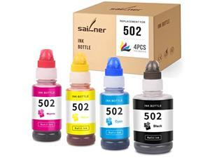 sailner compatible ink bottle replacement for 502 t502 eco tank et-3760 expression et-2750 et-2700 et-3700 workforce et-4750 et