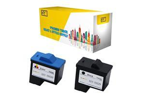 nyt compatible high yield inkjet cartridge replacement for t0529 black 10n0016 t0530 color 10n0026 for dell photo all-in-one 72