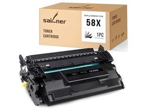 sailner compatible toner cartridge replacement for hp 58x 58 x cf258x high yield black no chip use with laserjet pro mfp m428fd