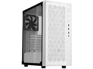 silverstone technology fara r1, tempered glass, white, mid-tower atx case with micro-atx and mini-itx support, sst-far1w-g