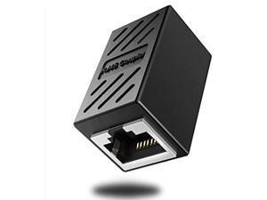deface rj45 coupler cable coupler cat8 cat7 cat6 cat5e female to female ethernet adapter black