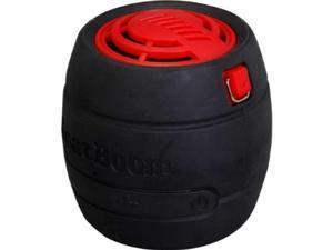 micronet beatboom portable wireless bluetooth speaker  retail packaging  black/red