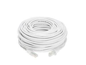 Cat6 100FT Networking RJ45 Ethernet Patch Cable Xbox \ PC \ Modem \ PS4 \ Router - (100 Feet) White