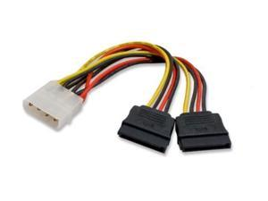 importer520 molex 4 pin to 2 x 15 pin sata power cable for ide to serial ata sata hard drive power cable adapter (5 pack)