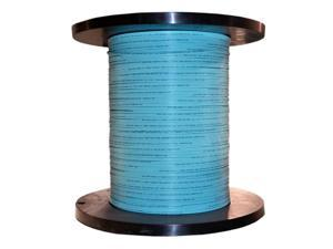2 Fiber Indoor Distribution Fiber Optic Cable, Multimode 50/125 OM3, Plenum Rated, Aqua, Spool, 1000ft
