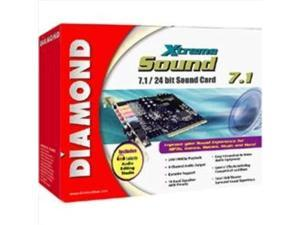 diamond multimedia xtremesound 7.1/24 bit sound card. diamond xs71 pci soundcard 24bit audio dolby ex dts 6.1/7.1 intsnd. pci -