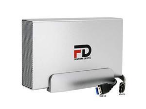 fantom drives 2tb dvr external hard drive expander - usb 3.0 & esata - supports directv, dish, motorola, arris and more - silve