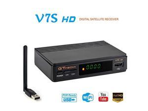 gtmedia v7s hd dvb-s2 tv satellite receiver fta digital sat decoder full hd 1080p upgrade freesat v7 hd with usb wifi antenna s