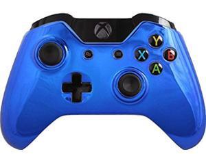 custom xbox one controller special edition blue chrome controller