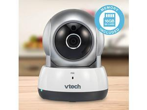 vtech vc9311-112 wi-fi ip camera with 720p hd, remote pan & tilt, free live streaming, automatic infrared night vision & 16 gb