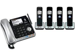 at&t tl86109 + 3 tl86009 5 handset corded / cordless 2 line dect 6.0