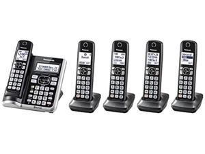 Panasonic KXTGF575 Link2Cell Bluetooth Cordless Phone - 5 Handsets