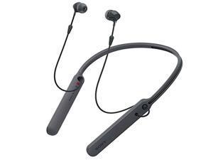 sony wireless behind-neck headset w/ earbuds - black - wi-c400