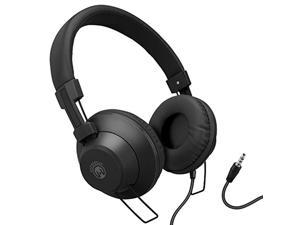 hypergear v50 wired stereo headphones with high-fidelity stereo sound, in-line microphone & remote to switch from music to call