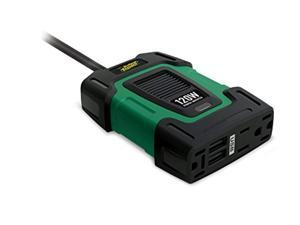 Dual USB Battery Tender 120W Power Inverter Dual AC Outlets Delivers Electric Power for AC Appliances 12V DC Input 3.1A Shared Ports Provides Charging Capability to Mobile Devices