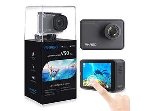 akaso v50 pro native 4k/30fps 20mp wifi action camera with eis touch screen adjustable view angle 30m waterproof camera support