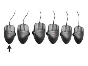 medium left-handed contour mouse, ergonomic wired usb mouse, 1200dpi, 5 buttons