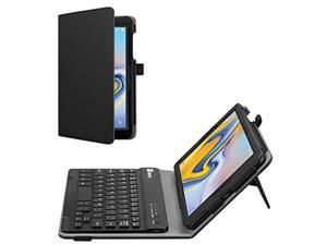 fintie folio keyboard case for samsung galaxy tab a 8.0 2018 model sm-t387 verizon/sprint/t-mobile/at&t, premium pu leather sta