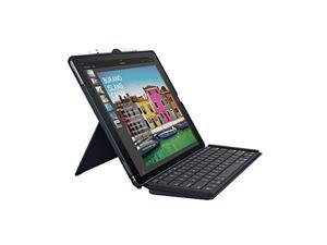 logitech ipad pro 12.9 inch keyboard case   slim combo with detachable, backlit, wireless keyboard and smart connector (blue)