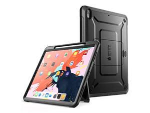 ipad pro 11 case 2018, supcase support pencil charging with built-in screen protector full-body rugged kickstand protective cas