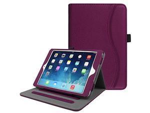fintie ipad mini/mini 2 / mini 3 case [corner protection] - [multi-angle viewing] folio smart stand protective cover with pocke
