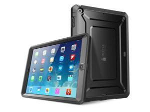 ipad air case, supcase heavy duty beetle defense series full-body rugged hybrid protective case cover with built-in screen prot