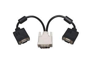 tripp lite p120-001-2 adapter/splitter cable - dvi-a m to (x2) hd15 f