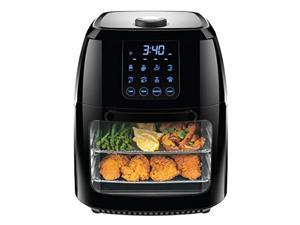 chefman digital air fryer+ rotisserie, dehydrator, convection oven, 8 presets to air fry, roast, dehydrate, bake & more, access