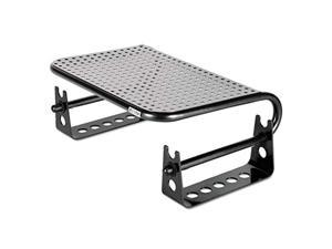 asp31480 metal art monitor stand riser44; black